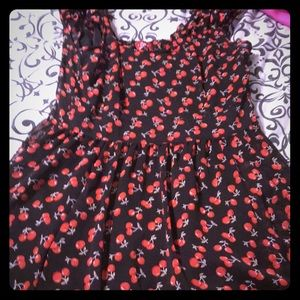 Royal Bones cherry lace swing dress